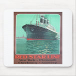 Red Star Line Titanic old advertisement Mouse Pads