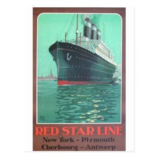 Red Star Line Titanic old advertisement Postcard