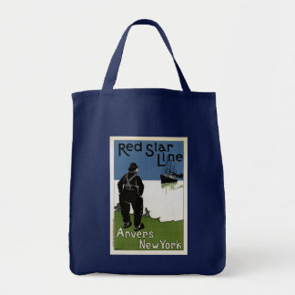 Red Star Line Tote Bag