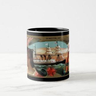 Red Star Line Two-Tone Coffee Mug