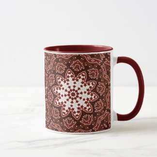 Red Star Mandala Mug