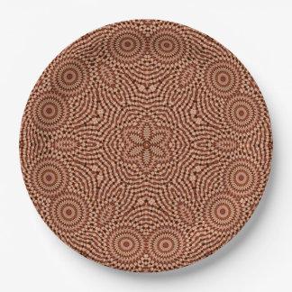 Red Star Mandala Paper Plate