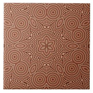 Red Star Mandala Tile