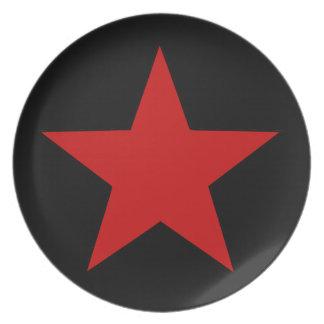 Red Star Melamine Plate