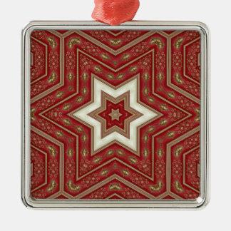 red star metal ornament