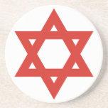 Red Star Of David, Israel flag Beverage Coasters