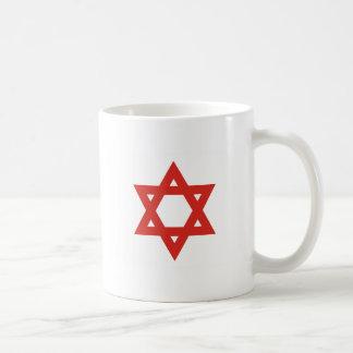 Red Star Of David, Israel flag Mugs