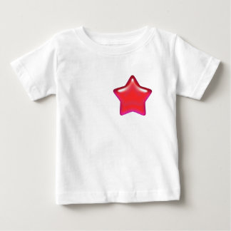 Red Star of Love Infant Organic Creeper