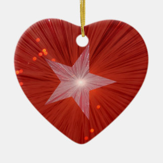 Red Star ornament heart shape