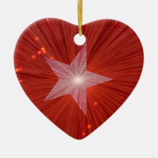 Red Star ornament heart shape