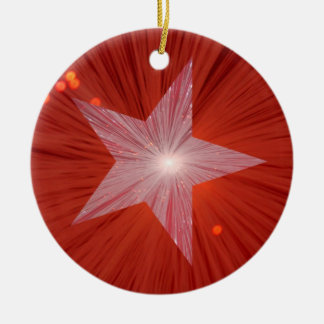 Red Star ornament round