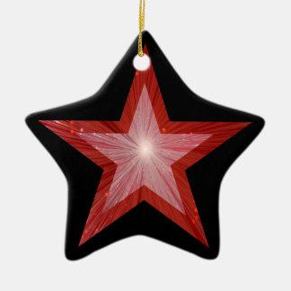Red Star ornament star shape black