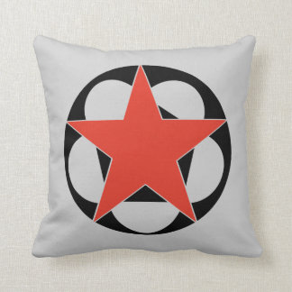 Red Star Pentacle Throw Pillow