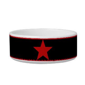 Red Star Pet Water Bowl