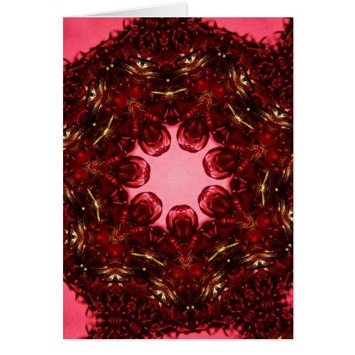Red Star Ribbon Greeting Card