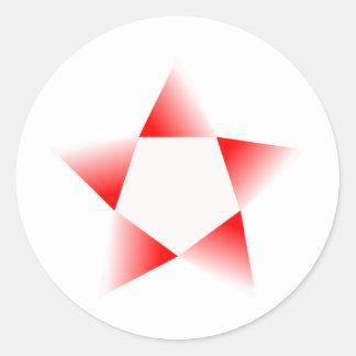 Red Star Rotating Classic Round Sticker