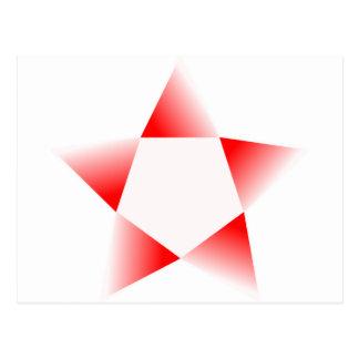 Red Star Rotating Postcard