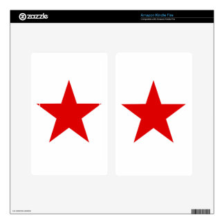 Red Star ★ Skins For Kindle Fire