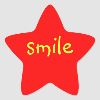 Red Star Smile stickers