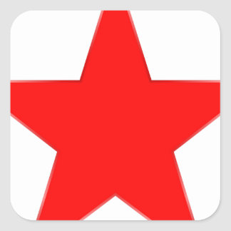 Red Star Square Sticker