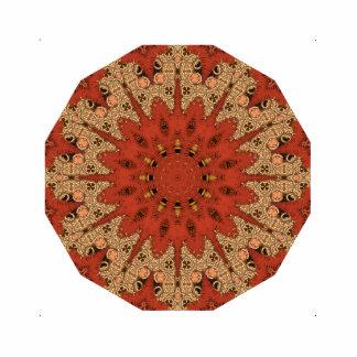 Red Star Stitched-Like Mandala Statuette