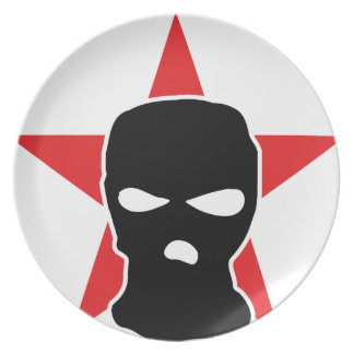 red star storm mask dinner plate