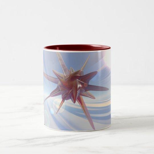 Red Star Two-Tone Coffee Mug