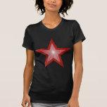Red Star 'two tone' women's t -shirt black