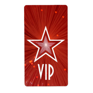 Red Star 'VIP' label large white text