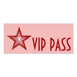 Red Star 'VIP PASS' invitation pink long
