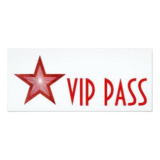 Red Star 'VIP PASS' invitation white long