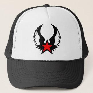 Red star w/wings trucker style hat