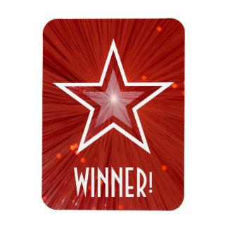 Red Star 'Winner!' flexible magnet