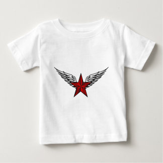 red star with wings baby T-Shirt
