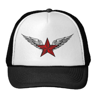 red star with wings trucker hat