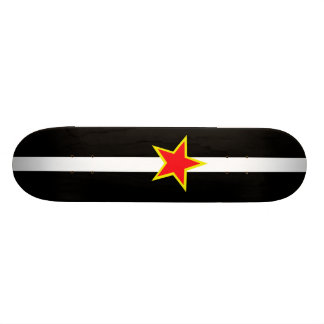 red star with yellow trim skateboard deck