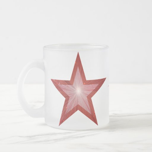Red Star  'Your Text' two tone mug white
