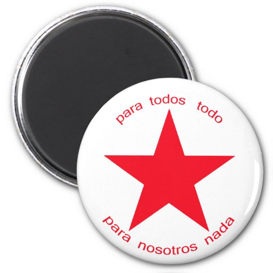 Red Star Zapatista Magnet