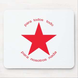 Red Star Zapatista Mouse Pad