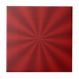 Red Starburst Ceramic Tile