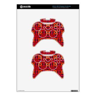 Red Starburst Design Xbox 360 Controller Skin