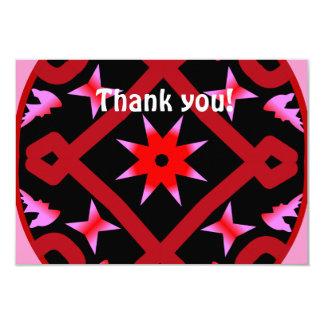 Red Starburst Geometric Kaleidoscope Pattern Announcement