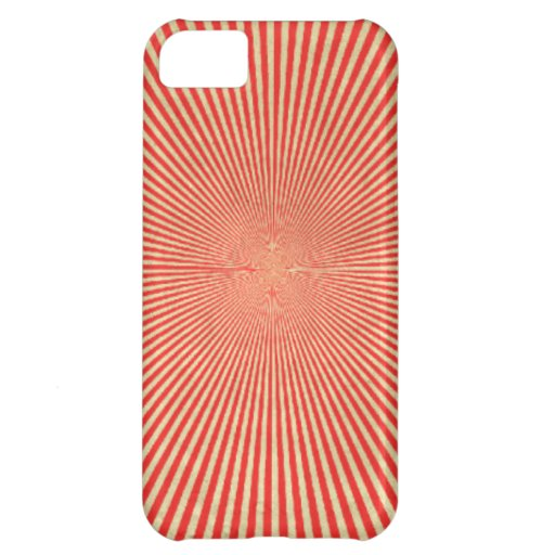 Red Starburst iPhone5 Case Cover For iPhone 5C