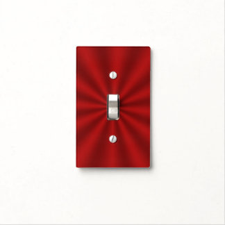 Red Starburst Light Switch Cover