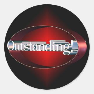Red Starburst Outstanding Sticker