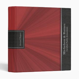 Red Starburst Professional Portfolio Binder