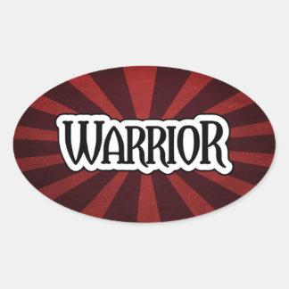 Red Starburst Warrior Sticker
