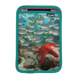 Red Starfish And Yellowtail Surgeonfish Sleeve For iPad Mini
