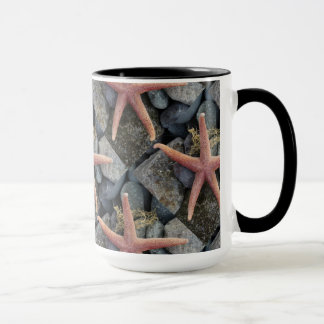 Red Starfish Beach House Decor Mug