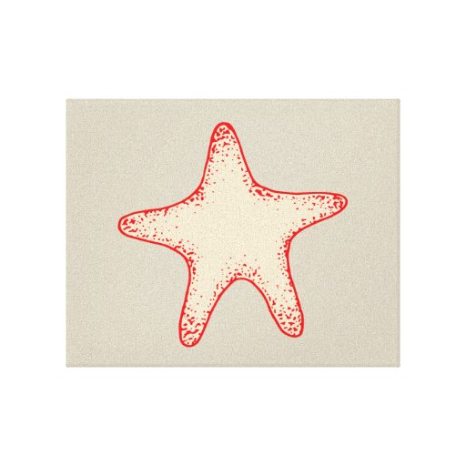 Red Starfish Wall Decor : Red starfish wall art gallery wrapped canvas zazzle